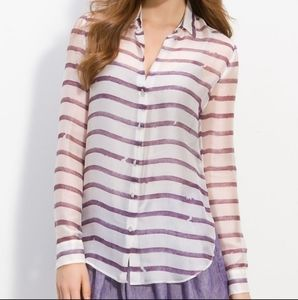 Theory 100% silk blouse, size s